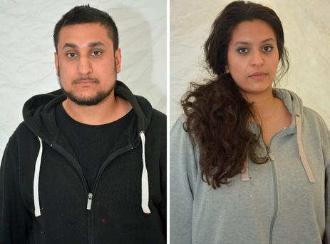Mohammed Rehman (25) and his now ex-wife Sana Ahmed Khan (24)