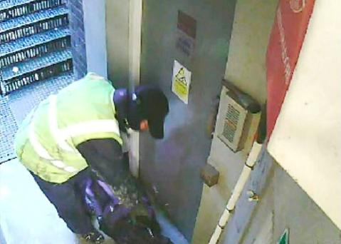 CCTV footage shown during the trial