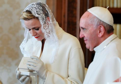 Pope Francis and Princess Charlene