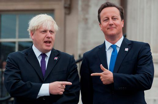 British Prime Minister David Cameron (R) and London Mayor Boris Johnson (L). Photo: Getty