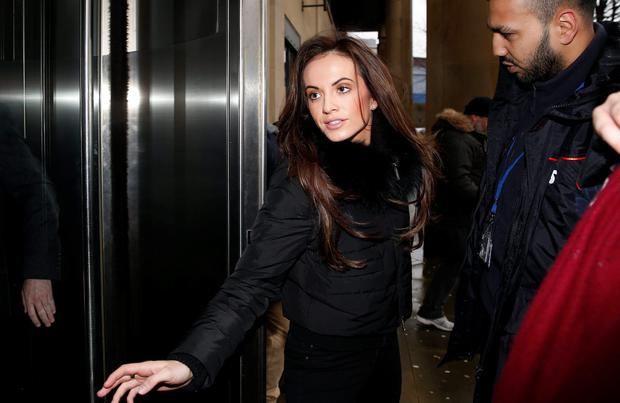 Stacey Flounders, the ex girlfriend of footballer Adam Johnson at the court yesterday.