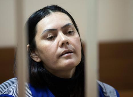 Nanny Gulchekhra Bobokulova in a court room in Moscow
