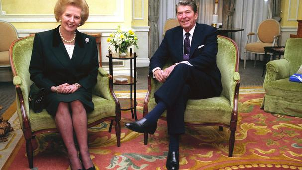 Margaret Thatcher with Ronald Reagan. Photo: PA