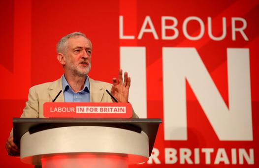 Jeremy Corbyn wants a level playing field on pay and conditions for solve the migration issues within the EU. Photo: PA