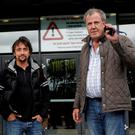 Former 'Top Gear' presenters James May, Richard Hammond and Jeremy Clarkson