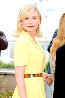 Kirsten Dunst at Cannes yesterday. Photo: Andreas Rentz/Getty Images