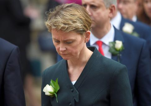 Yvette Cooper: online threat (Reuters)