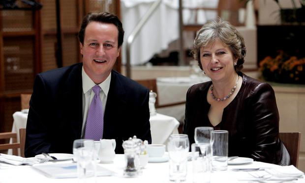 David Cameron and Theresa May pictured together in 2007