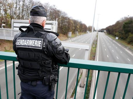 The car was ambushed as it drove along Paris' A1 motorway Photo: Getty Images