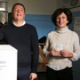Italian Prime Minister Matteo Renzi and his wife Agnese were all smiles as they cast their vote in the referendum in Pontassieve, near Florence, early yesterday Photo: Reuters