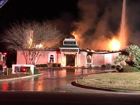 The blaze destroyed the mosque in Victoria, Texas Photo: Victoria Islamic Center