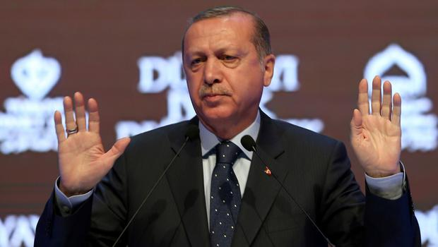 Turkey's President Recep Tayyip Erdogan addresses a rally in Istanbul at the weekend