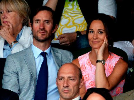 Pippa Middleton and James Matthews at Wimbledon. They will be celebrating their marriage in style today