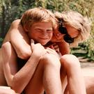 Diana with Harry on holiday. Photo: PA