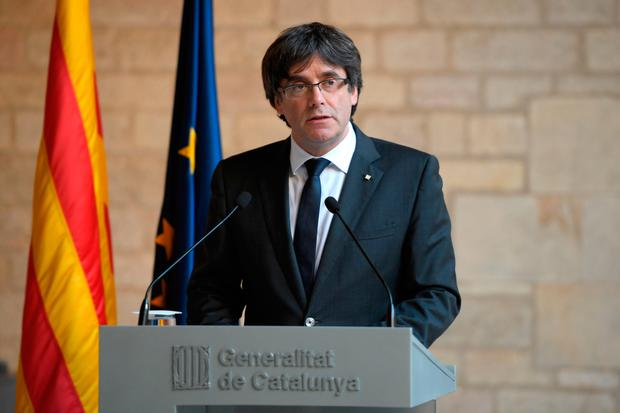 Catalan president Carles Puigdemont . Photo: Getty