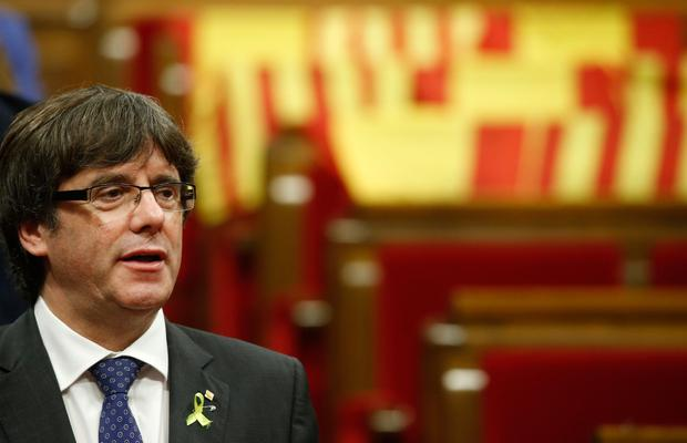 Deposed Catalan president Carles Puigdemont. Photo: AP