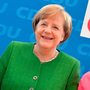 Angela Merkel, left, with Annegret Kramp-Karrenbauer, who has been nominated as the new CDU party chairman. Photo: AFP/Getty Images