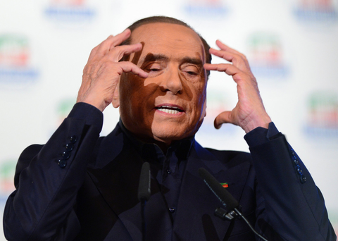 Silvio Berlusconi's party looks best-placed to form a coalition. Photo: Reuters