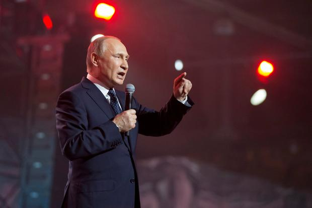 Vladimir Putin: Russia has strongly denied it was involved in the Salisbury attack. Photo: AP