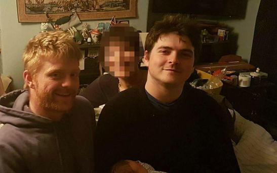 Charles Allen, 21, and Dr Robert Allen, 30, from Bristol were fishing off rocks at Treyarnon Cove, near Padstow, in north Cornwall