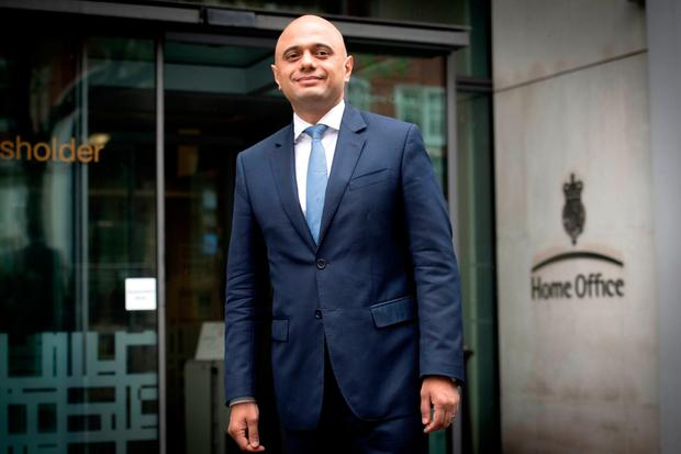 Urgent task: Sajid Javid will focus on immigration. REUTERS/Toby Melville