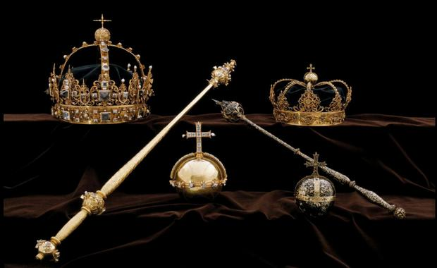 Some of the crown jewels stolen in the cathedral heist. Photo: Reuters