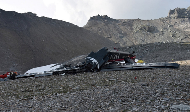 The accident site 2,450 meters above sea level. Photo: Reuters