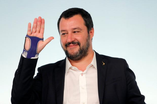 Defiant: Interior Minister Matteo Salvini has lashed out at France. Photo: Reuters