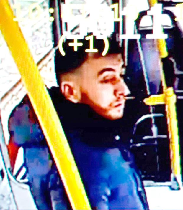 Suspect: A photo of the man arrested by police, Gokmen Tanis, taken from tram CCTV