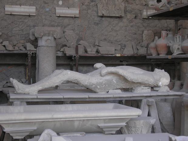 Many mummified remains have been found in Pompeii