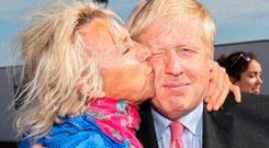 Leadership bid: Boris Johnson gets a kiss from a supporter at an event in Dover, Kent. Photo: AFP/Getty Images