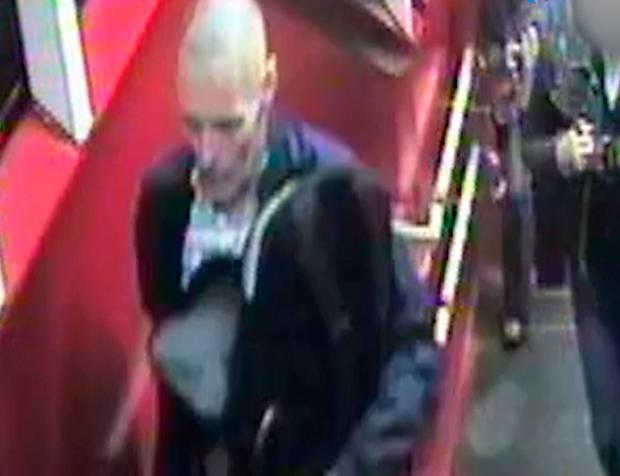 Metropolitan Police handout photo dated 19/08/21 of a grab taken from CCTV footage of Lee Peacock at North Wembley station. Detectives are still seeking 49-year-old Lee Peacock for questioning in relation to a double murder investigation whch took place in Westminster, London. Metropolitan Police/PA Wire