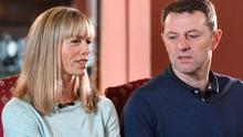 Grateful: Kate McCann and her husband Gerry McCann have thanked their supporters and say they remain hopeful their daughter Madeleine will be found. Photo: Joe Giddens/ PA