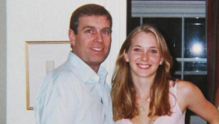 Prince Andrew pictured with Virginia Giuffre, then aged 17