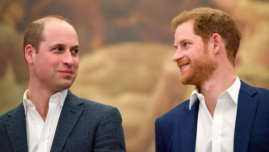 Britain's Prince William and Prince Harry. Picture: Reuters