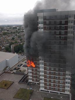 The fire broke our due to a faulty tumble dryer Photo: LFB