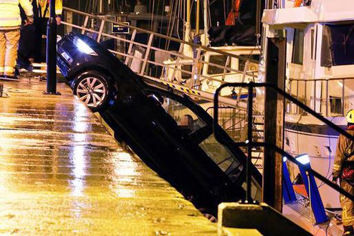 A pregnant woman was rescued from her car Photo: David Townsend