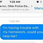 Lena Draper asked the Marion Police Department for help with her maths question Credit: Facebook