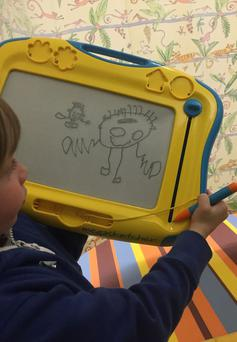 The sketch which helped sound alarm bells Photo: The Brain Tumour Charity