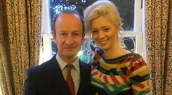 Henry Bolton with Jo Marney in a picture posted on Twitter by Marney in December