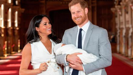 Meghan Markle and Prince Harry with their baby son Archie in September 2019. Photo: Dominic Lipinski/PA