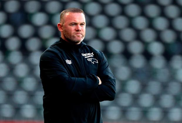 Derby County manager Wayne Rooney who has apologised to his family and Derby. Bradley Collyer/PA Wire