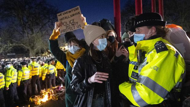 British PM Johnson 'deeply concerned' at footage of police breaking up vigil