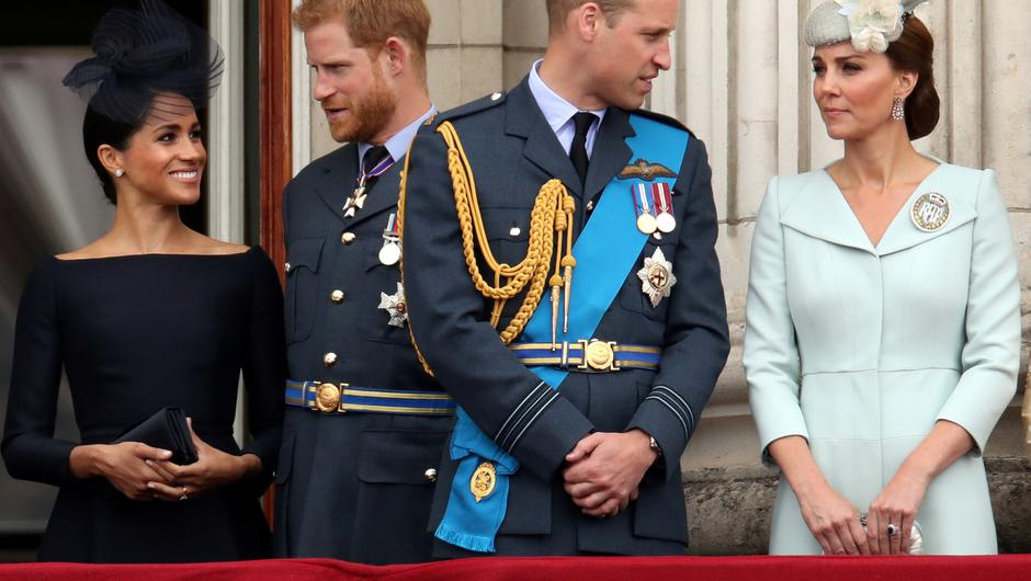 Meghan, Duchess of Sussexand Prince Harry with Prince William and Catherine, Duchess of Cambridge. Photo: Chris Radburn