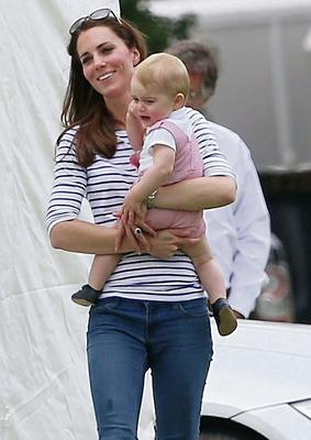 June 2014: Kate Middleton with her son Prince George