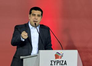 Greek opposition leader and head of radical leftist Syriza party, Alexis Tsipras