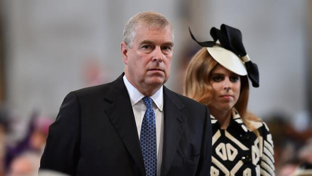 Furore: Britain's Prince Andrew and Princess Beatrice. Photo: Reuters/Ben Stansall