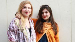 Ghoncheh Ghavami, right, pictured with her mother Susan Moshtaghian