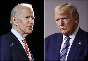 The former vice president is all but certain to the the Democratic challenger to Donald Trump in the autumn (AP)