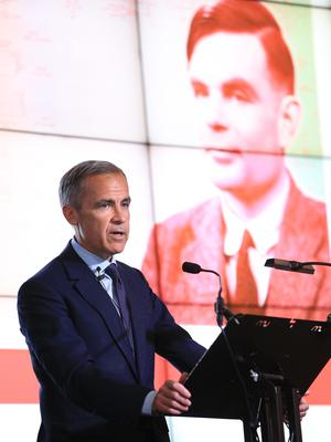 Governor of the Bank of England, Mark Carney, announces that Alan Turing has been selected to feature on the next £50 note (Peter Byrne/PA)